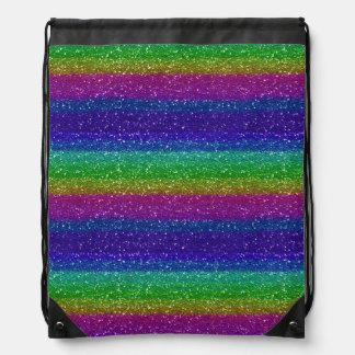 Mochila del lazo del brillo del arco iris