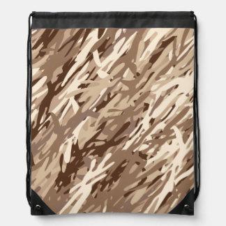 Mochila del lazo del camuflaje del desierto