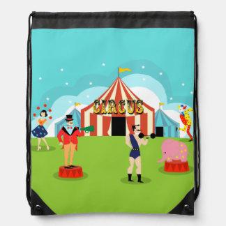 Mochila del lazo del circo del vintage