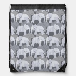 Mochila del lazo del modelo del elefante - gris