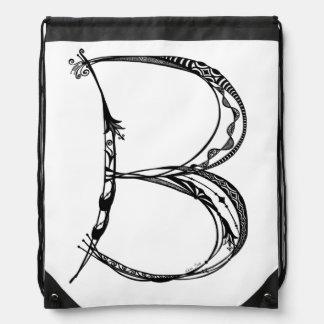 Mochila del lazo del monograma B