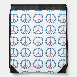 Mochila del lazo del símbolo del signo de la paz