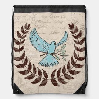 Mochila del pájaro de la paz de la paloma del azul