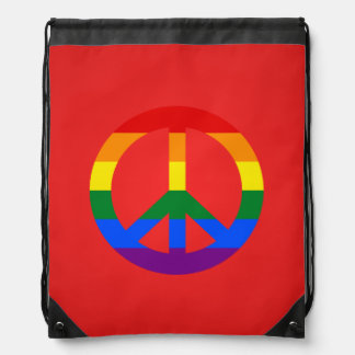 Mochila del signo de la paz de la bandera de LGBT
