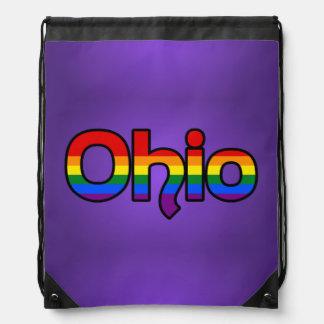 Mochila del texto del arco iris de Ohio
