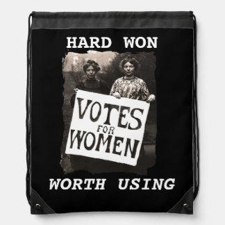 Mochila del voto de la vintage mujer
