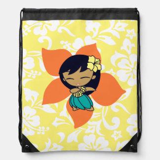 Mochila hawaiana del hibisco del chica de Hula de