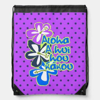 Mochila hawaiana del lunar del hibisco de Pokii