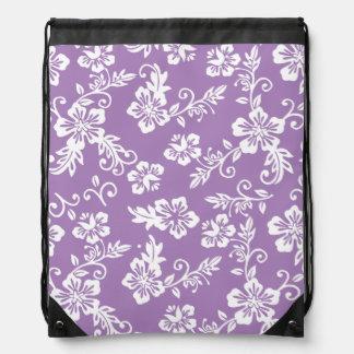Mochila hawaiana púrpura del lazo de la impresión