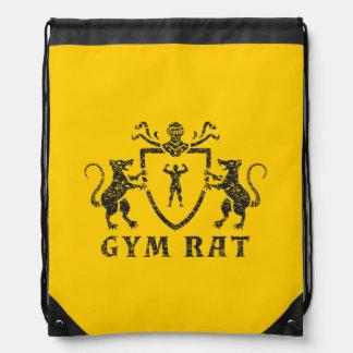 Mochila heráldica del lazo de la rata del gimnasio