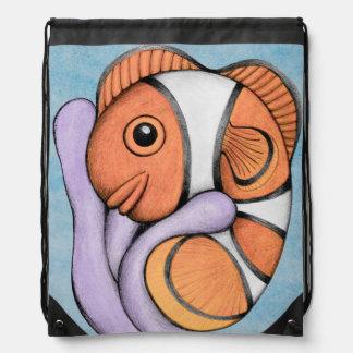 Mochila linda del lazo de Clownfish
