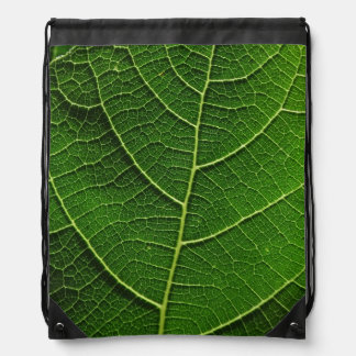 Mochila macra de la hoja verde