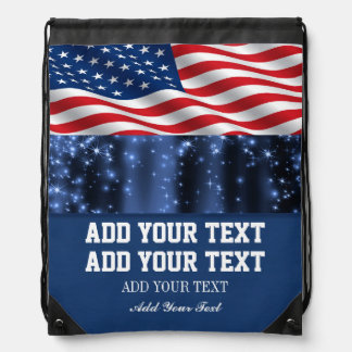 Mochila patriótica de la bandera americana