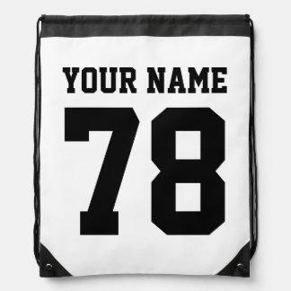 Mochila personalizada del lazo del número del jers