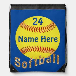Mochila personalizada del lazo del softball