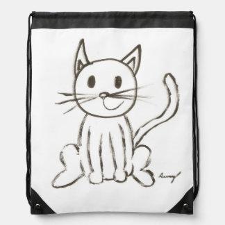 Mochila pintada del gatito
