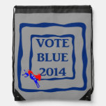 Mochila política del azul 2014 del voto