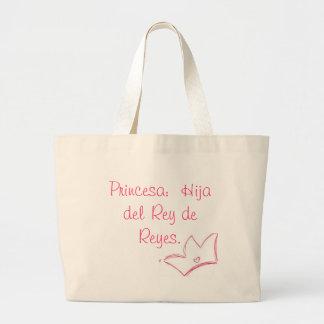 Mochila Princesa:  Hija del Rey de Reyes. Jumbo Tote Bag