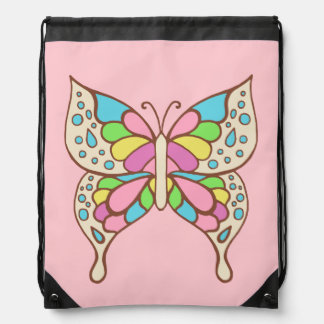 Mochila rosada de la mariposa