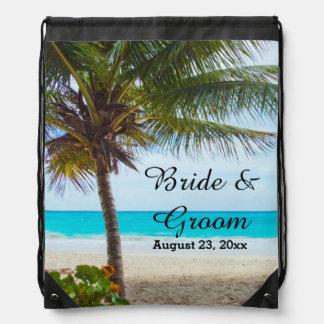 Mochila tropical del lazo del boda
