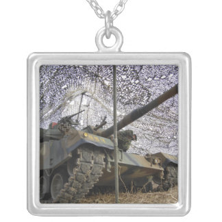 Mock aggressors from Republic of Korea 2 Square Pendant Necklace