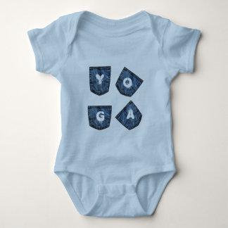 Mock Denim Pockets - Baby Yoga Clothes Tshirts