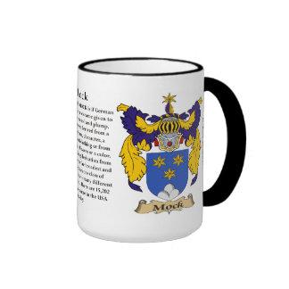 Mock Family Coat of Arms Ringer Coffee Mug