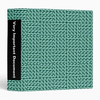 "Mock knit binder - 2.2"". dark green"