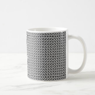 Mock knit - black/white - mug