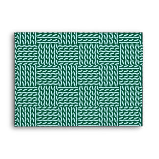 Mock knit envelope, dark green