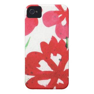 Mock Marimekko Flowers iPhone 4 Case-Mate Case