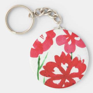 Mock Marimekko Flowers Keychain