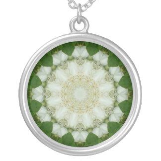 Mock Orange Blossom Silver-plate Necklace