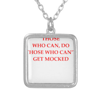 mock square pendant necklace