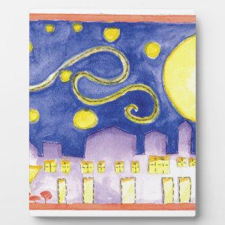Mock Van Gogh Starry Night & Cafe Plaque