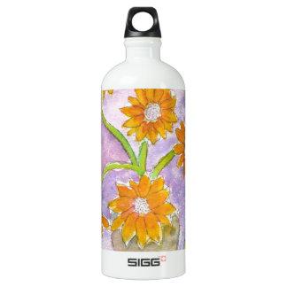 Mock Van Gogh Sunflowers & Irises Aluminum Water Bottle
