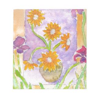 Mock Van Gogh Sunflowers & Irises Notepad