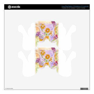 Mock Van Gogh Sunflowers & Irises PS3 Controller Skins