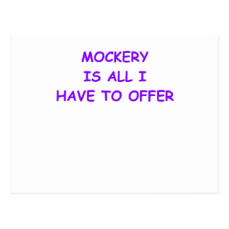 MOCKERY POSTCARD