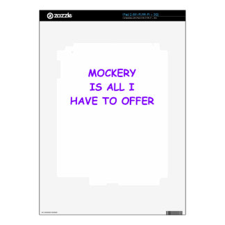 MOCKERY DECALS FOR THE iPad 2
