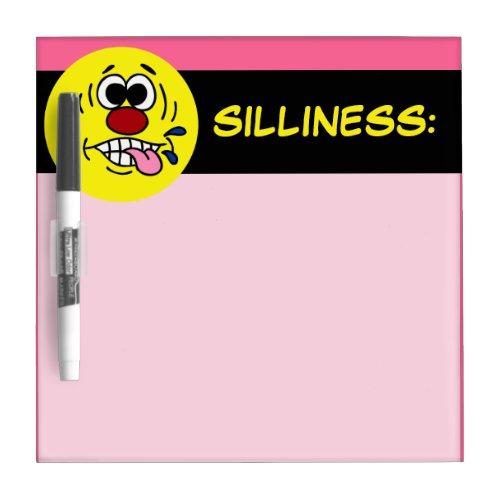 Mocking Face: Ha Ha I just quit my job Dry-erase Board