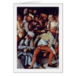 Mocking Of Christ By Mathis Grunewald Gothart Greeting Card