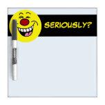 Mocking Smiley Face Grumpey Dry-Erase Whiteboard