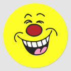 Mocking Smiley Face Smiley Classic Round Sticker