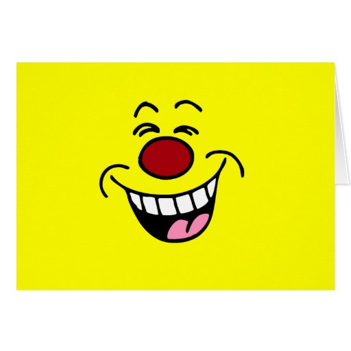 Mocking Smiley Face Smiley Greeting Card