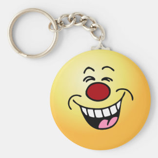Mocking Smiley Face Smiley Keychain