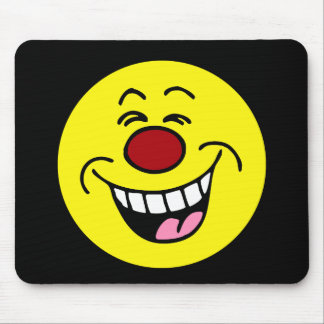 Mocking Smiley Face Smiley Mouse Pad