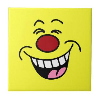 Mocking Smiley Face Smiley Tile