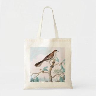 Mocking Thrush Bird Art Canvas Bags