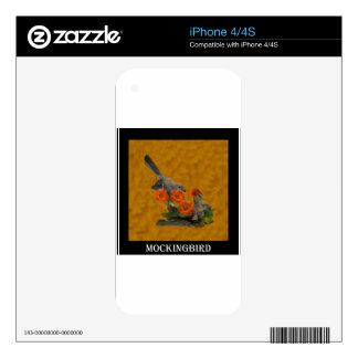 Mockingbird (Arkansas, Florida, Mississippi,Texas) Skin For The iPhone 4